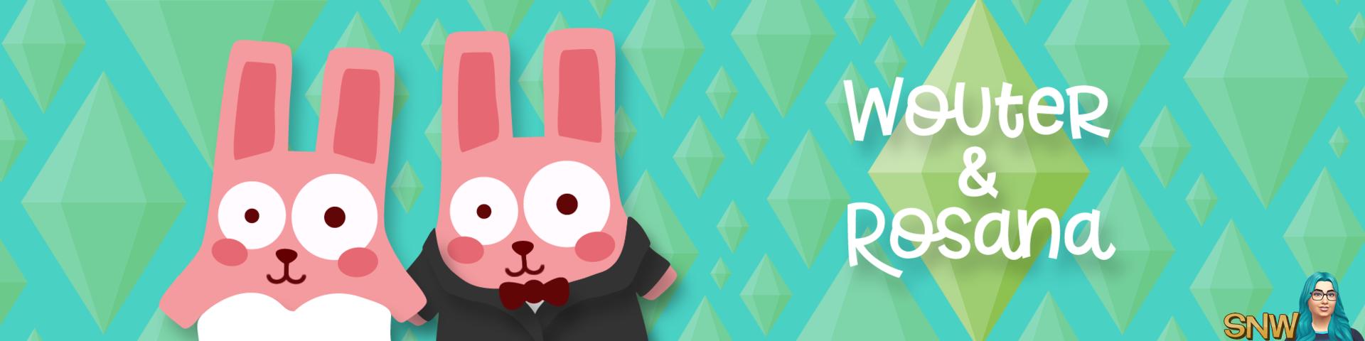 wedding announcement Wouter (ChEeTaH) & Rosana Freezer Bunny plumbobs