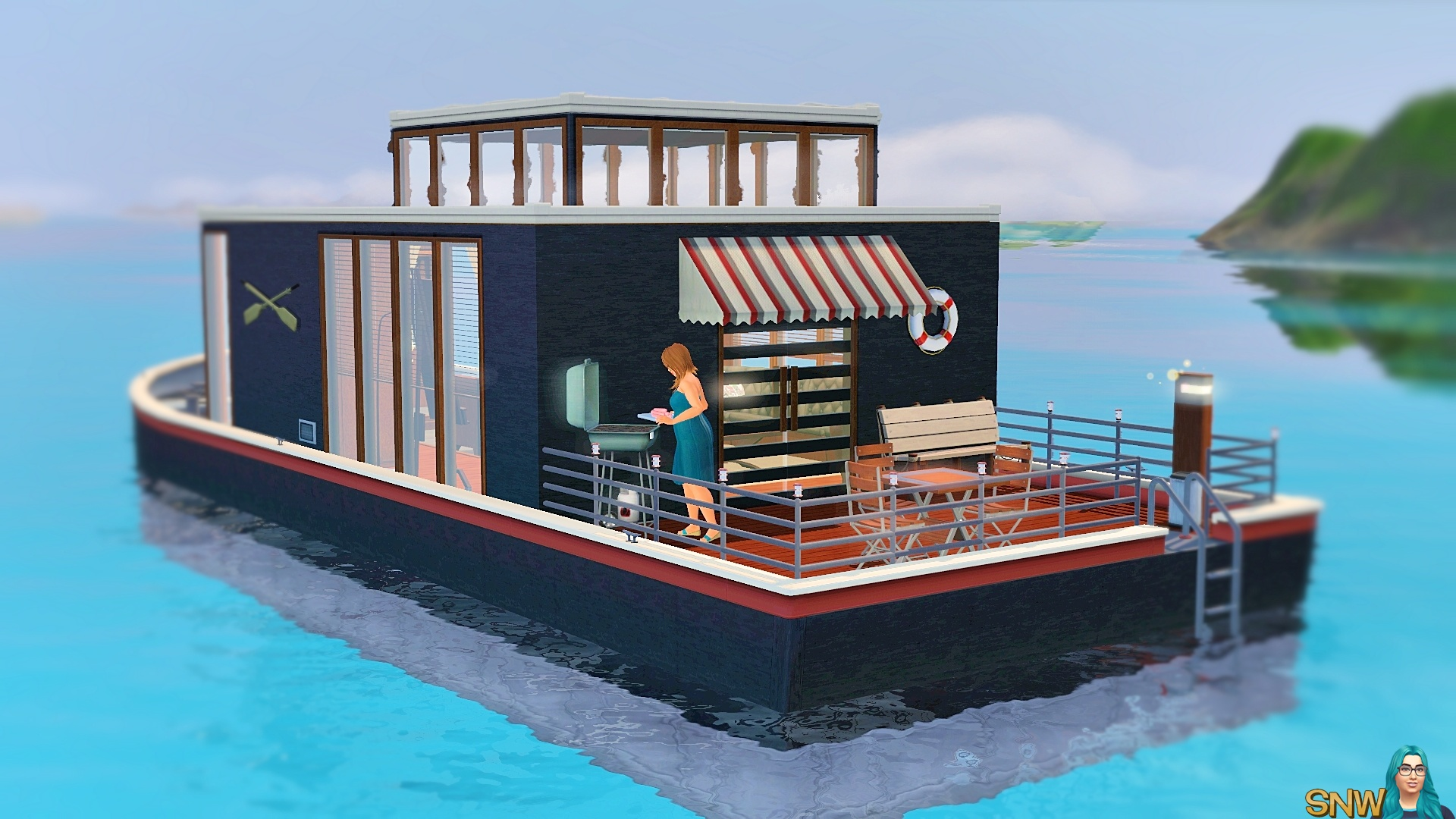 Navicula Houseboat | SNW | SimsNetwork.com