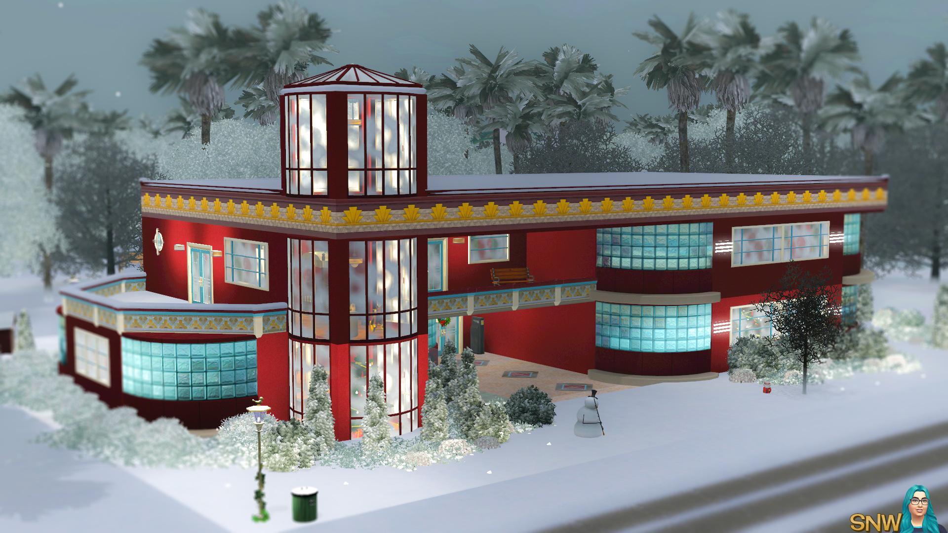Christmas Art Deco House Snw Simsnetwork Com