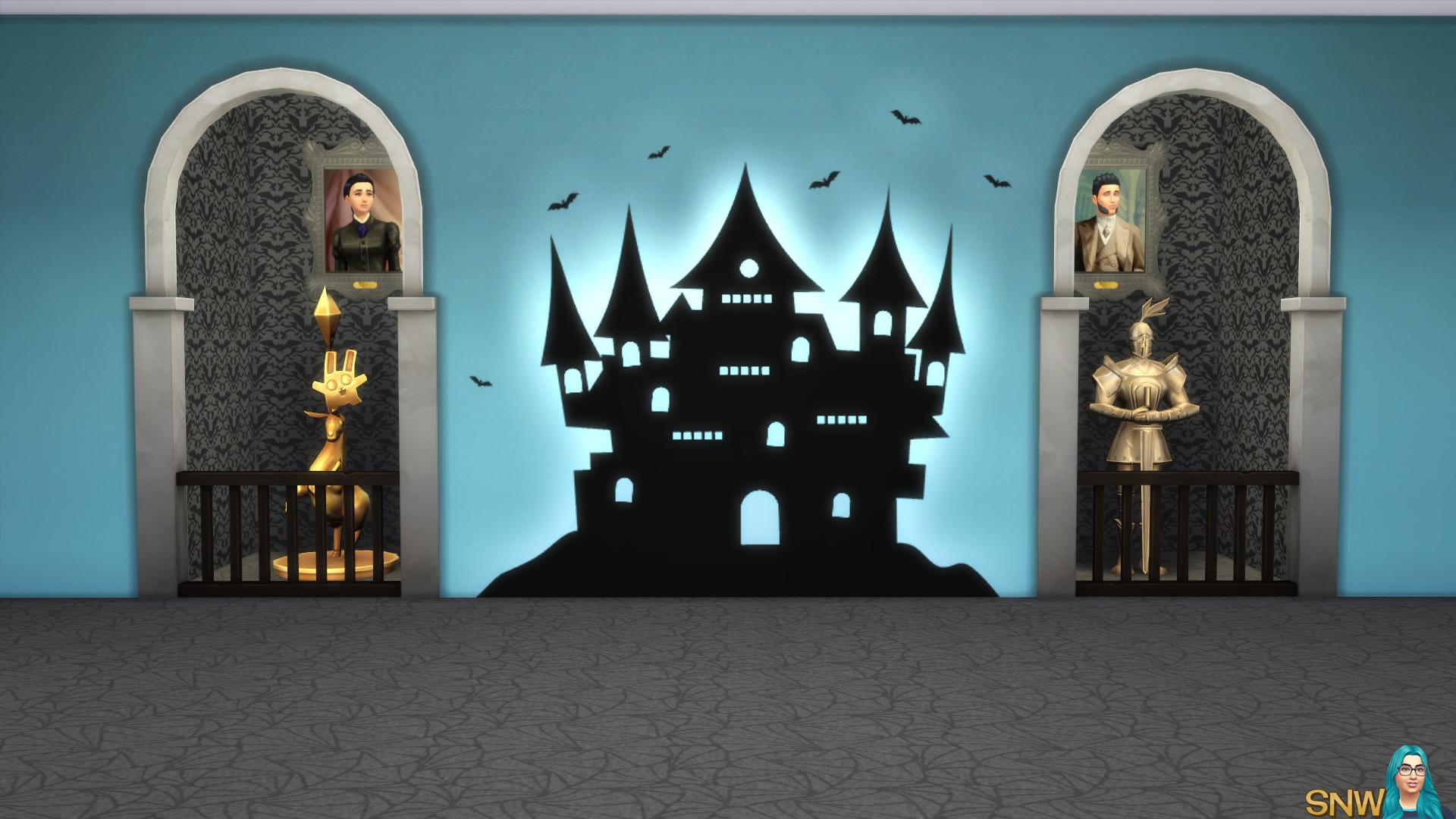 Halloween 2016 Mural 1 Snw Simsnetwork Com