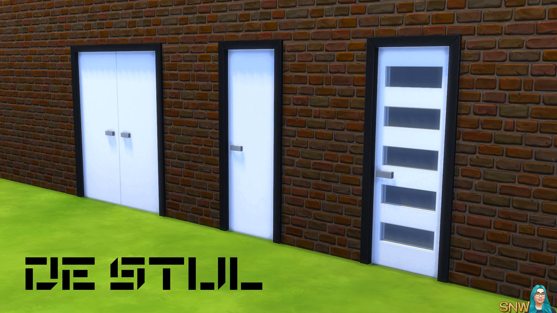 De Stijl Modern Front Door 6 Snw Simsnetwork Com