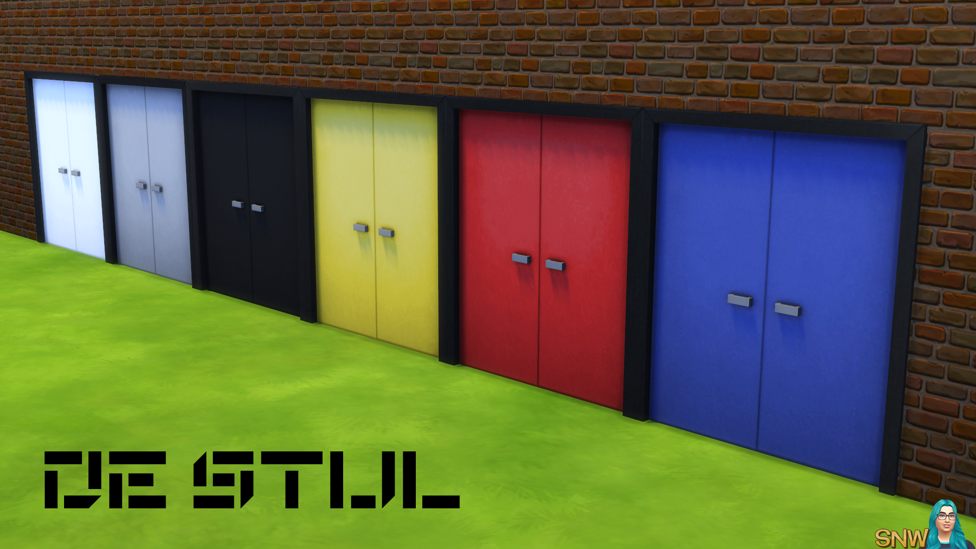 De Stijl Simple Double Door 8 Snw Simsnetwork Com