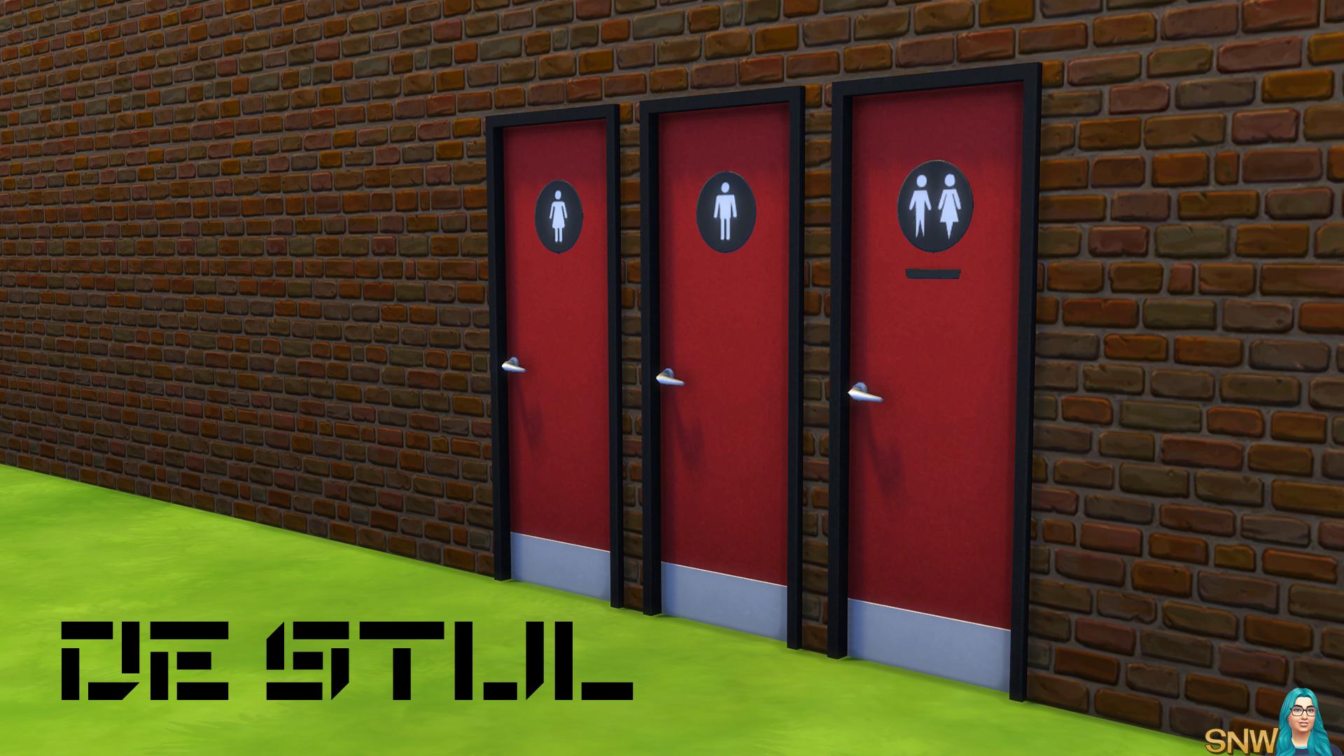 De Stijl Doors for The Sims 4 & De Stijl Toilet Doors #9   SNW   SimsNetwork.com