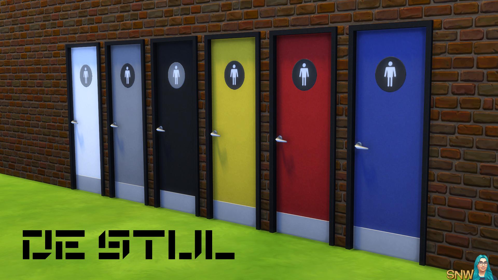 De Stijl Doors for The Sims 4 & De Stijl Toilet Doors #9 | SNW | SimsNetwork.com