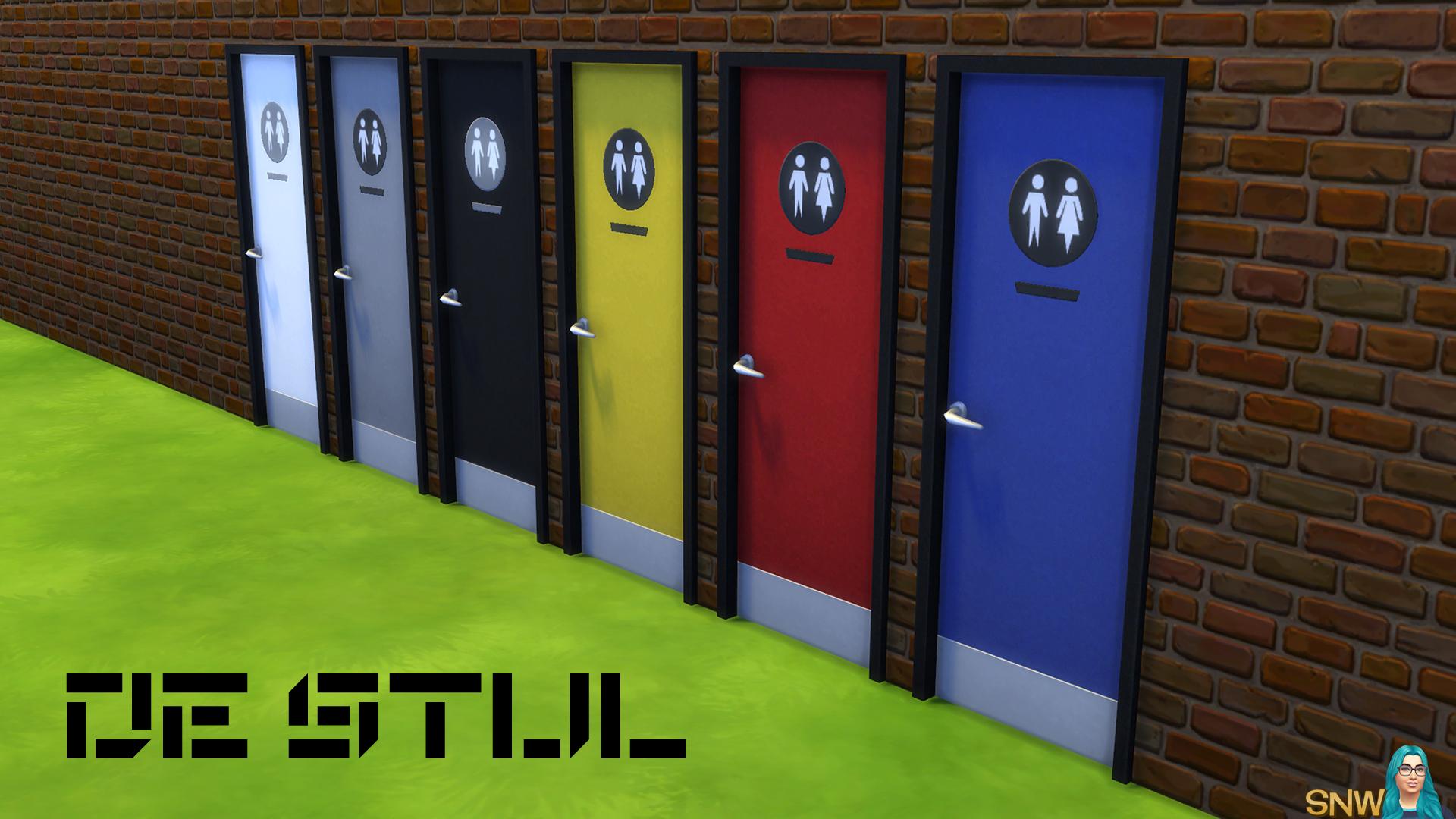 De Stijl Toilet Doors 9 Snw Simsnetwork Com