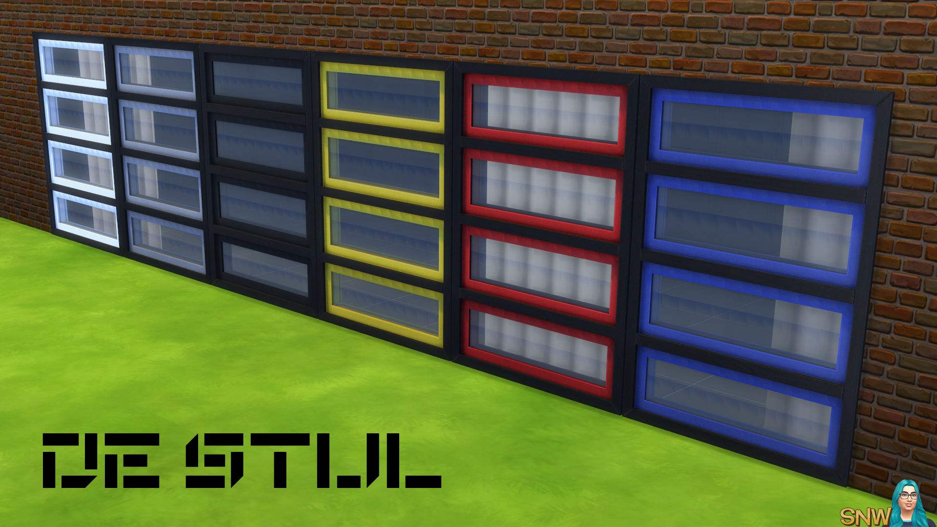 De Stijl Quadruple Window 10 Snw Simsnetwork Com