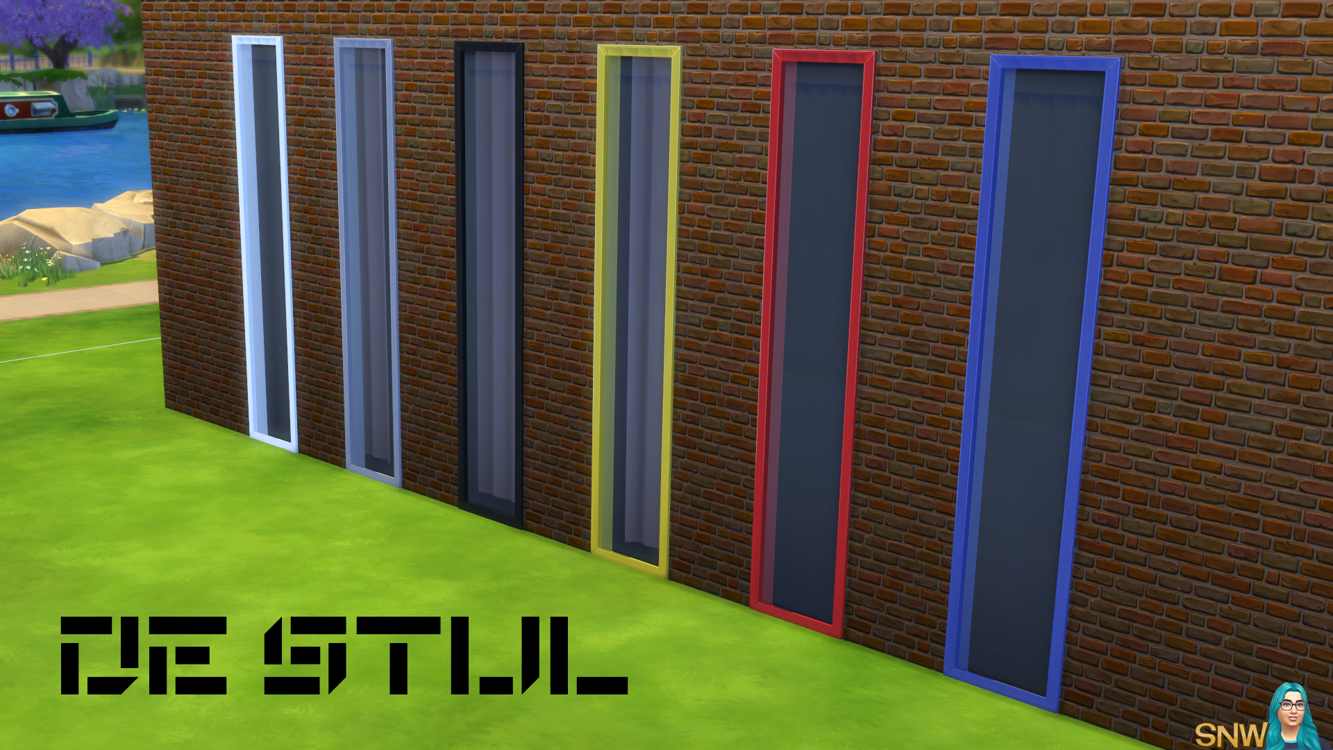 De Stijl Small Windows 3 Snw Simsnetwork Com
