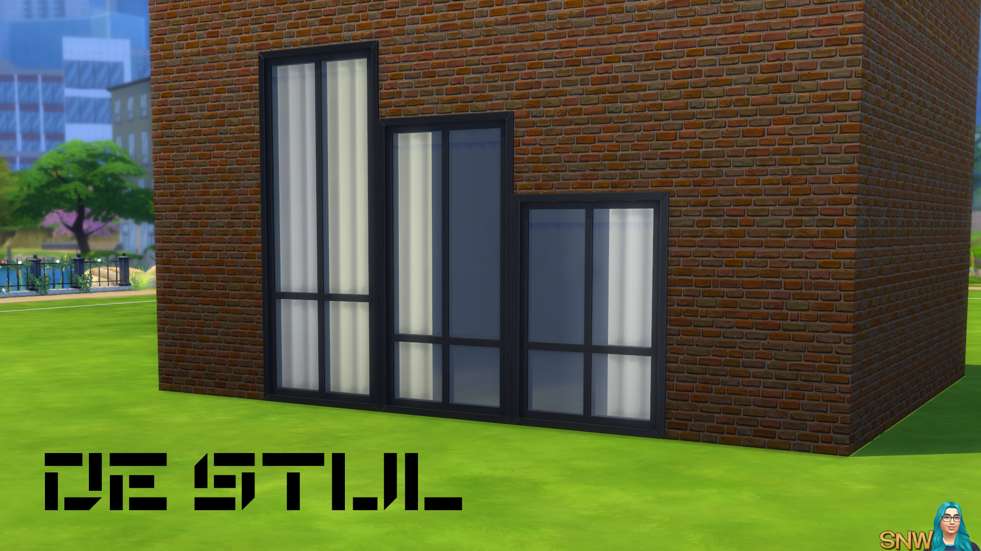 De Stijl 4 Pane Steel Windows 5 Snw Simsnetwork Com