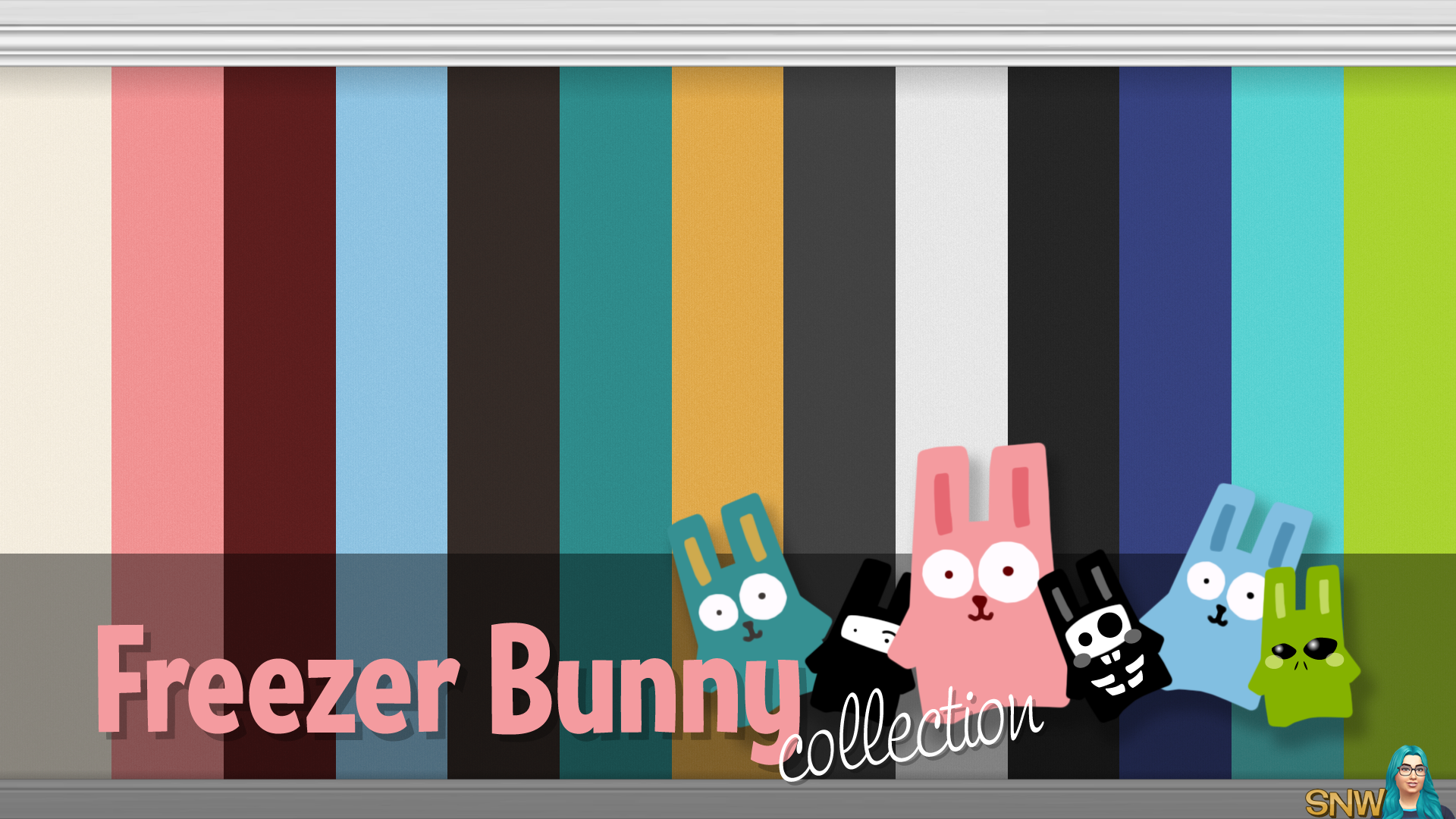 Freezer bunny collection plain wallpapers snw for Wallpaper for walls websites