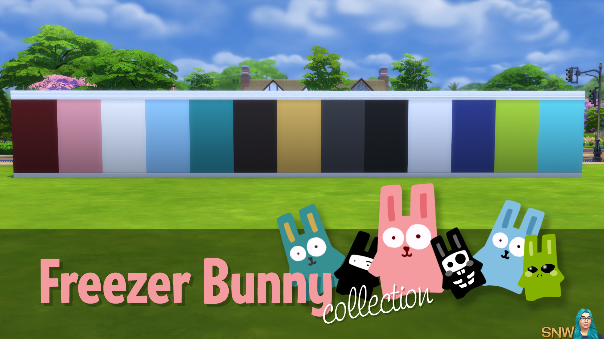 Freezer Bunny Collection Plain Wallpapers Snw