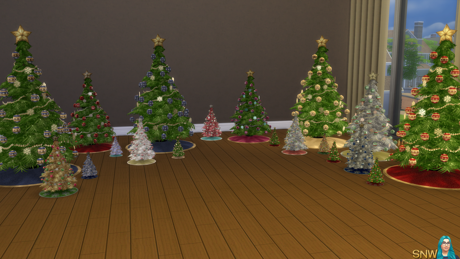 Christmas Trees 3 Sizes Snw Simsnetwork Com