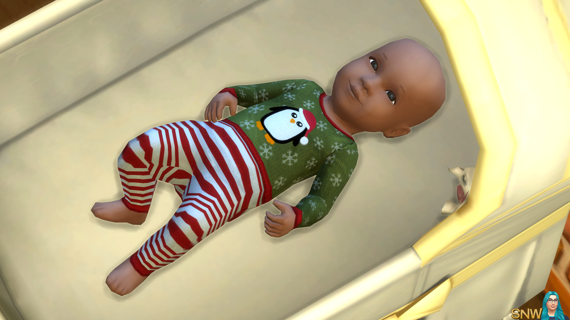 Christmas Calendar Minecraft : Baby penguin christmas outfits snw simsnetwork
