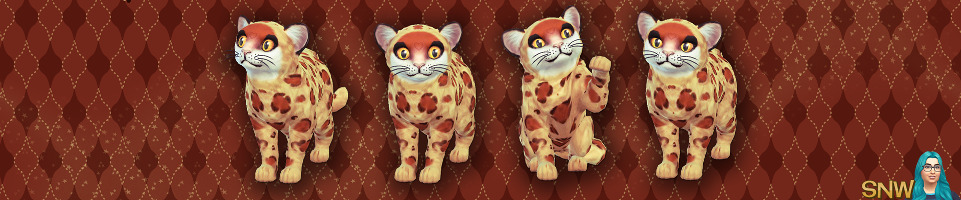 The Sims 4: Cats & Dogs - Happy Simming! Junior the Cute Leopard Cub (Kitten) wallpaper