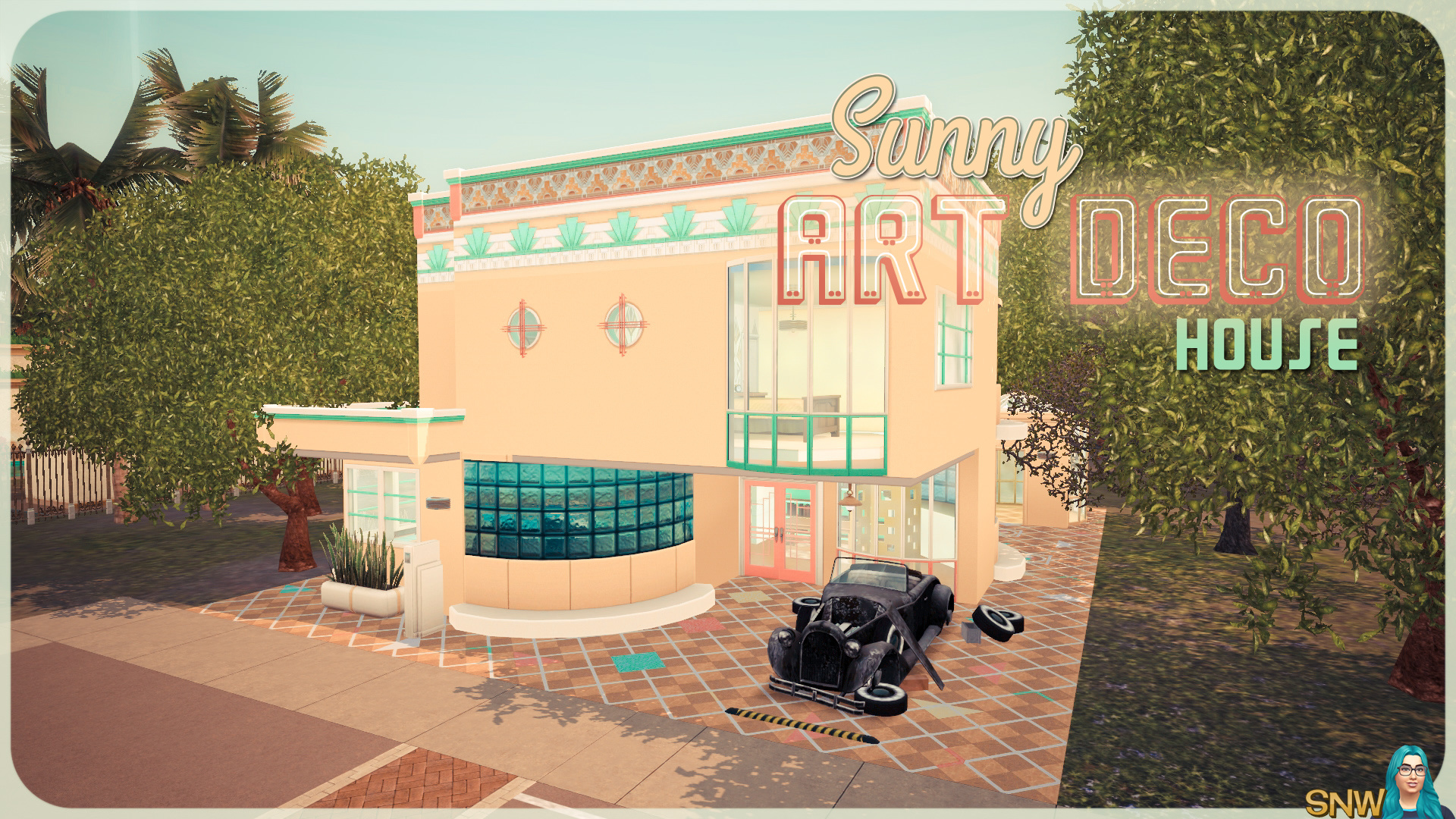 Sunny art deco house snw simsnetwork.com
