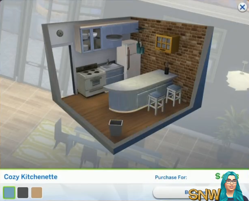 The Sims 4  City Living Styled Rooms   Cozy Kitchenette. The Sims 4  City Living Styled Rooms   SNW   SimsNetwork com