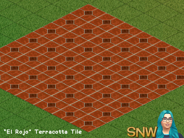 "The Sims - ""El Rojo"" Terracotta Tile"