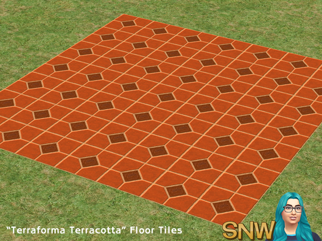 "The Sims 2 - ""Terraforma Terracotta"" Floor Tiles"