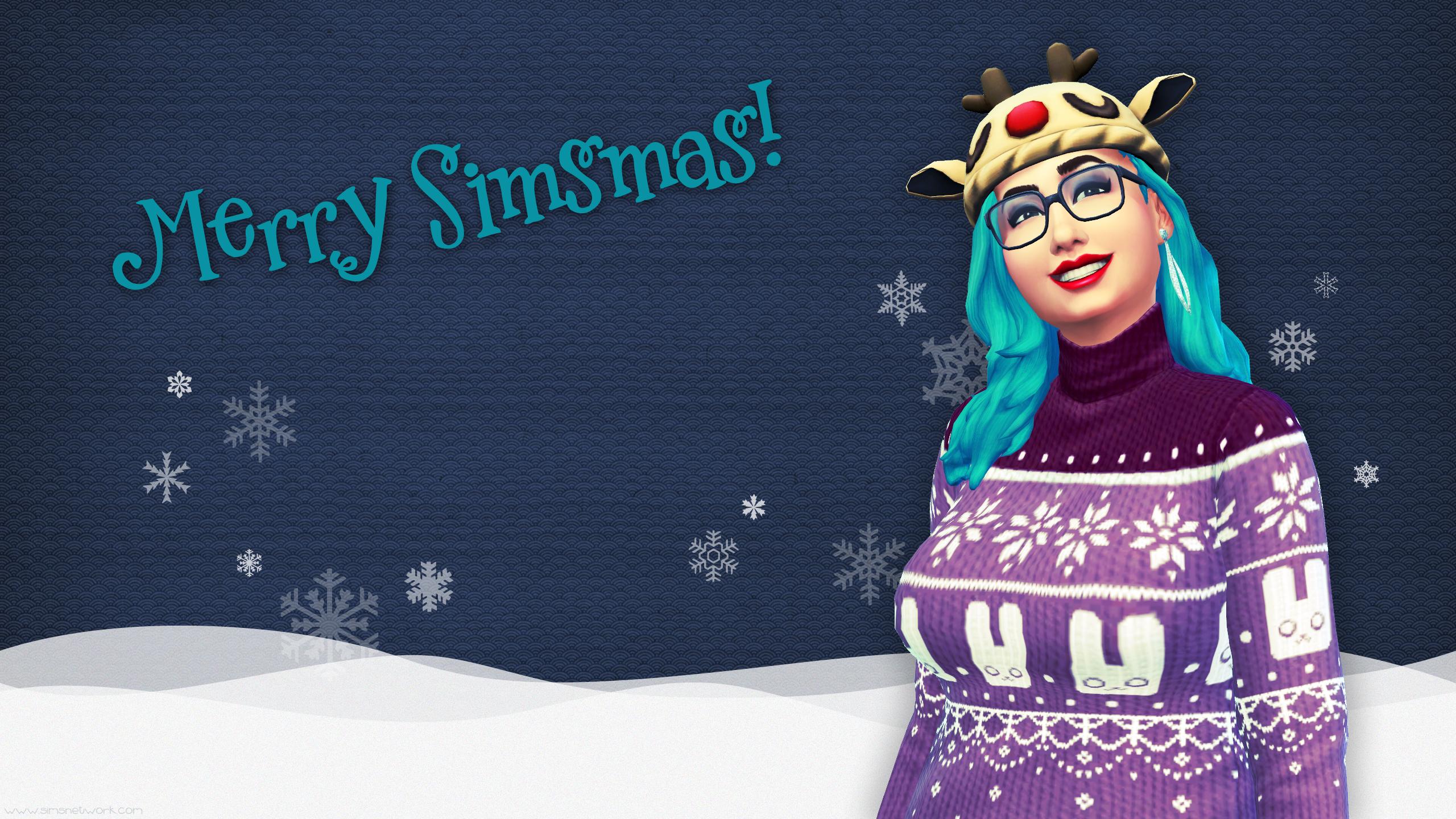 Merry Simsmas 2015 Christmas wallpaper